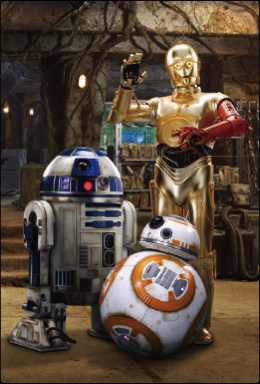 3Dポストカード スター・ウォーズ/フォースの覚醒 C-3PO R2-D2 BB-8 All-star Droids