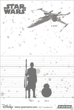 3Dポストカード スター・ウォーズ/フォースの覚醒 レイ BB-8 Encountering of Fate 裏面