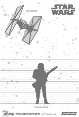 3Dポストカード スター・ウォーズ/フォースの覚醒 ファースト・オーダー ストームトルーパー Shooting Weapons 裏面