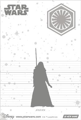 3Dポストカード スター・ウォーズ/フォースの覚醒 カイロ・レン Kylo Ren in the Dark 裏面