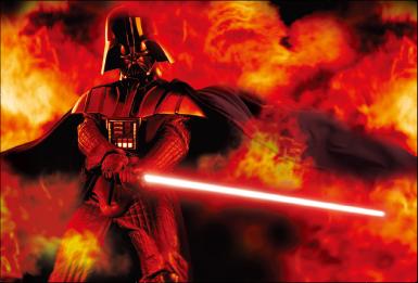 3Dポストカード スター・ウォーズ/フォースの覚醒 ダース・ベイダーDarth Vader on Fire