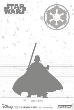 3Dポストカード スター・ウォーズ/フォースの覚醒 ダース・ベイダーDarth Vader on Fire 裏面