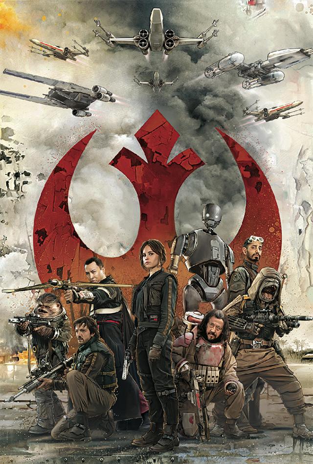 3Dポストカード Star Wars スター・ウォーズ ローグワン REBEL ALLIANCE