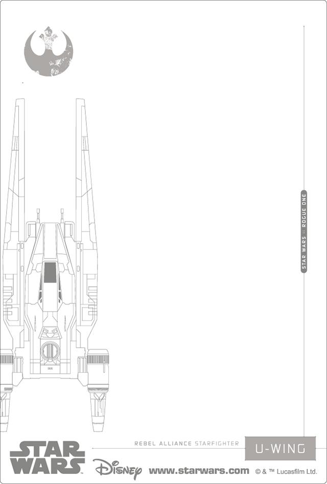 3Dポストカード Star Wars スター・ウォーズ ローグワン REBEL ALLIANCE 裏面