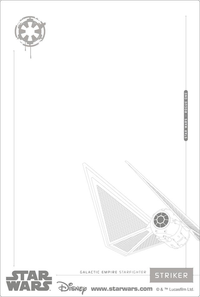 3Dポストカード Star Wars スター・ウォーズ ローグワン GALACTIC EMPIRE 裏面