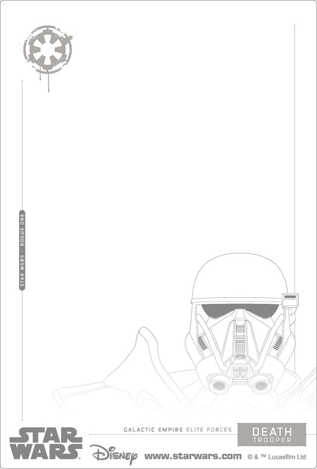 3Dポストカード Star Wars スター・ウォーズ ローグワン TROOPERS 裏面