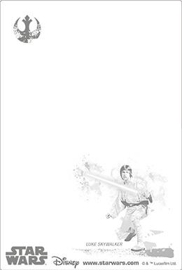 3Dポストカード STAR WARS スター・ウォーズ オリジナル・トリロジー Luke-Jedi 裏面