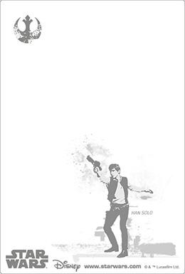 3Dポストカード STAR WARS スター・ウォーズ オリジナル・トリロジー Han Solo