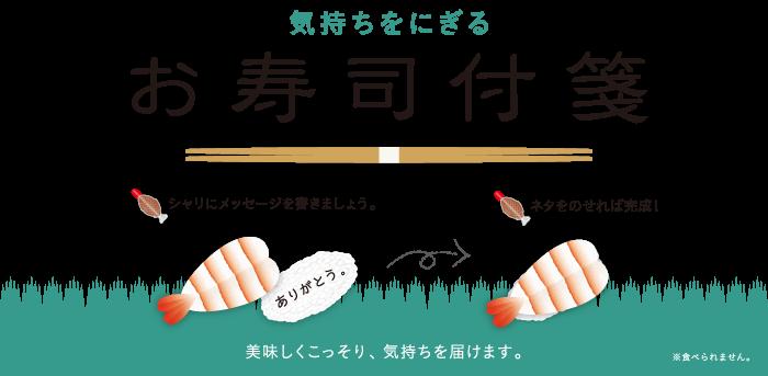 お寿司付箋