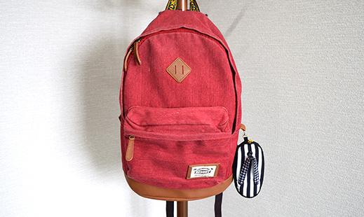ぞうりポーチ ユニークなデザインは目立つので、バッグにつけても◎