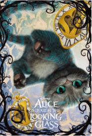 3Dポストカード アリス・イン・ワンダーランド/時間の旅 チェシャ猫