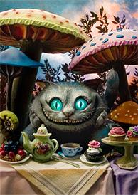 3Dポストカード アリス・イン・ワンダーランド チェシャ猫