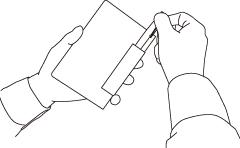 フレームマンスリー手帳 ペンをサッと取り出せて すっきりとおさまる フラットペンホルダー。