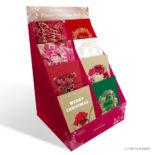 日比谷花壇 クリスマスカード classic-03 Poinsettia N7746