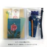 isshoni. ペンケース付ノートカバーPVC A5対応 クリア ブルー N1860