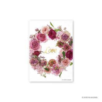 日比谷花壇 ポストカード ピンクノバラ N7719