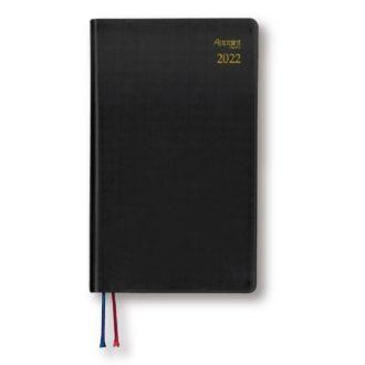 2021年9月始まり Appoint S 1週間+横罫 手帳サイズ ブラック E1744