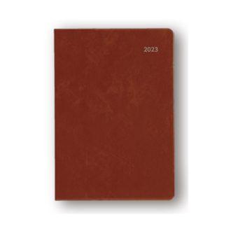 2022年1月始まり アポイント Appoint 大きな文字シリーズ A6 1ヶ月ブロック ブラウン E8317