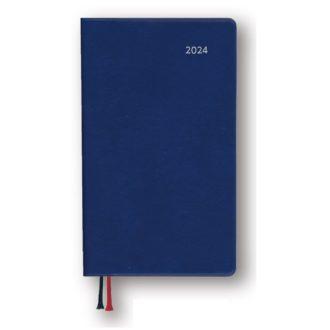 2022年1月始まり アポイント Appoint 大きな文字シリーズ 1週間+横罫 手帳サイズ ネイビー E8322