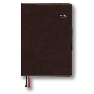 2022年1月始まり アポイント Appoint E8433 1週間+横罫 手帳サイズ ブラウン
