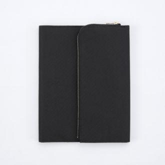 isshoni. ペンケース付手帳ノートカバー帆布 A5 ブラック N1881