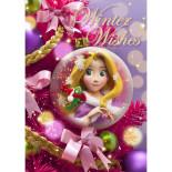 sisa 3Dポストカード クリスマスオーナメント ラプンツェル S3675