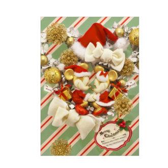 sisa 3Dポストカード クリスマスリース S3639