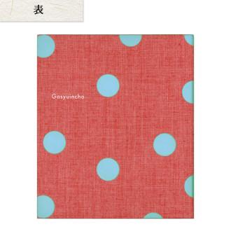 御朱印ファイル 水玉 赤地 M1021