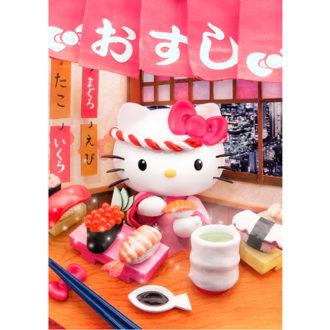 3Dポストカード ハローキティ ハローキティのお寿司屋さん F053