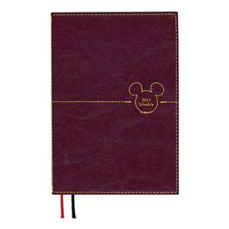 2017年1月始まり ディズニー Disney Diary ステッチワークミッキー 見開き1週間 A6 パープル E6086