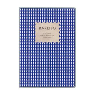 ギンガムチェック家計簿 A5 ブルー J1236