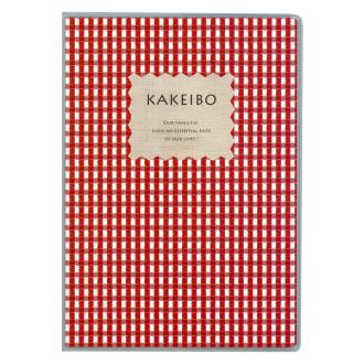 ギンガムチェック家計簿 B5 レッド J1237