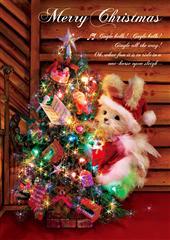 sisa 3Dポストカード クリスマスツリー S3086