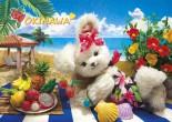 sisa 3Dポストカード OKINAWAビーチ S3110
