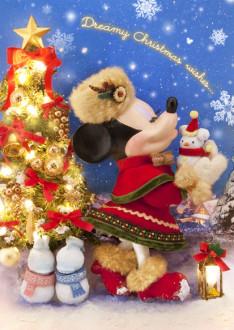 sisa 3Dポストカード クリスマス・ウィッシュ S3593