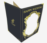 3Dグリーティングカード The Veil of Swan S2412