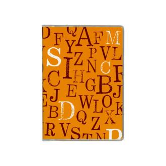 ドット手帳 タイポグラフィオレンジ B3511