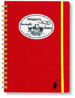ミッキーパルプルート リングノート B6 クラフト レッド R1344