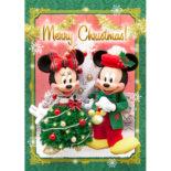 3Dポストカード ミッキー ミニー ドレスアップクリスマス S3727