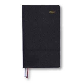 2017年9月始まり Appoint 1週間バーチカル 手帳サイズ ブラック E1755