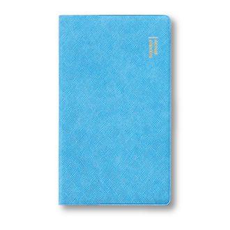 2018年9月始まり ダイアリー 薄型 1ヶ月ブロック 手帳サイズ ブルー E2285
