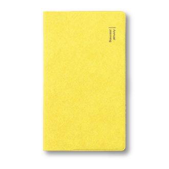 2020年9月始まり ダイアリー 薄型 1ヶ月ブロック 手帳サイズ イエロー E2288