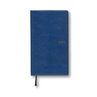 2021年1月始まり アポイント Appoint E1692 1ヶ月ブロック 日曜始まり 薄型 手帳サイズ ブルー