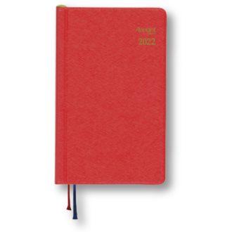 2021年1月始まり アポイント Appoint E1694 1週間+横罫 鉛筆付き 手帳(ミニ)サイズ レッド