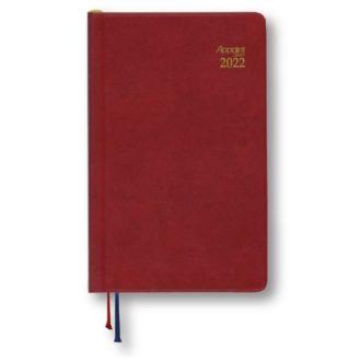 2021年1月始まり アポイント Appoint E1695 見開き1週間 鉛筆付き 手帳(ミニ)サイズ レッド