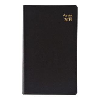 2019年1月始まり アポイント Appoint E1056 大きな文字シリーズ 1週間+横罫 手帳サイズ ブラック