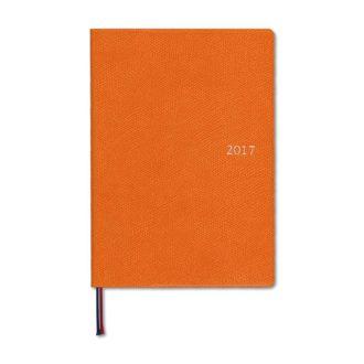 2017年1月始まり アポイント E1665 デスク 1週間バーチカル B6 オレンジ Appoint