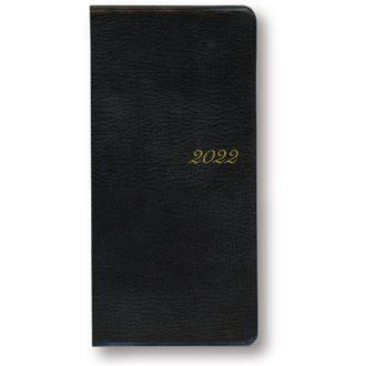 2021年1月始まり アポイントプレミアム APPOINT DIAR PREMIUM E1601 1ヶ月横罫 薄型 本革 手帳サイズ ブラック