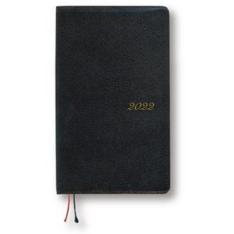 2017年1月始まり アポイントプレミアム E1603 本革 1週間+横罫 手帳サイズ ブラック APPOINT DIARY PREMIUM