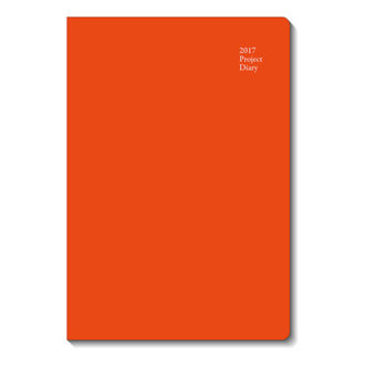 2017年1月始まり プロジェクトダイアリー Project Diary Bタイプ A5対応サイズ レッド E1684